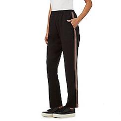 Nine by Savannah Miller - Black pyjama style joggers
