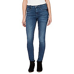 Nine by Savannah Miller - Dark blue high-waisted slim leg jeans