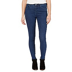 Nine by Savannah Miller - Dark blue high-waisted skinny jeans