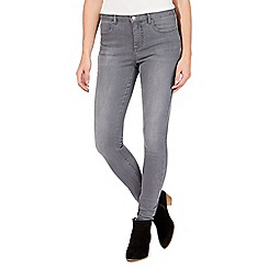 Nine by Savannah Miller - Grey high-waisted skinny jeans