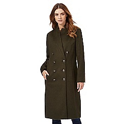 Nine by Savannah Miller - Khaki green military style coat with wool