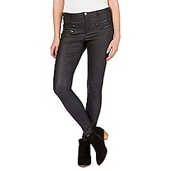 Nine by Savannah Miller - Black coated super skinny jeans