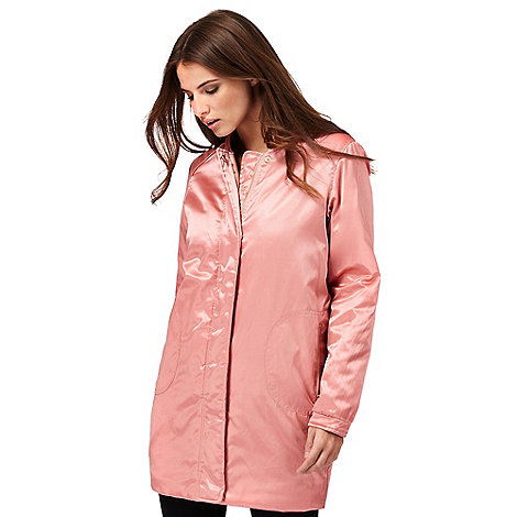 Nine by Savannah Miller Pink longline bomber jacket   Debenhams