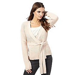 Nine by Savannah Miller - Light pink ribbed wrap cardigan