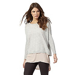 Nine by Savannah Miller - Light grey 2-in-1 jumper