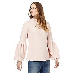 Nine by Savannah Miller - Light pink balloon sleeved top