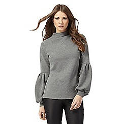 Nine by Savannah Miller - Grey balloon sleeved top