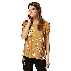 Nine by Savannah Miller - Dark yellow bloom print top