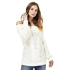 Nine by Savannah Miller - Cream chunky knit jumper