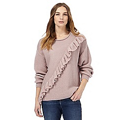 Nine by Savannah Miller - Light pink filled knitted jumper