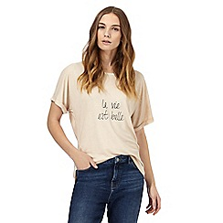 Nine by Savannah Miller - Pale pink embroidered t-shirt