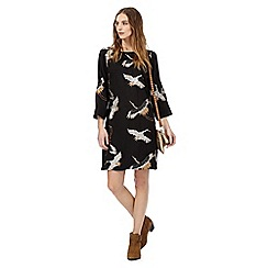 Nine by Savannah Miller - Black crane embroidery tunic dress
