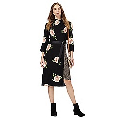 Nine by Savannah Miller - Black rose print dress