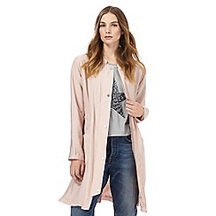 Nine by Savannah Miller - Pink longline bomber jacket