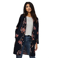 Nine by Savannah Miller - Navy rose print duster jacket