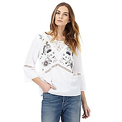 Nine by Savannah Miller - White bird embroidered top