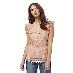Nine by Savannah Miller - Pale pink lace top