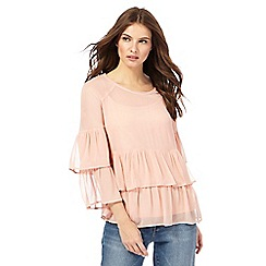 Nine by Savannah Miller - Pale pink tiered top