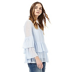 Nine by Savannah Miller - Pale blue tiered top