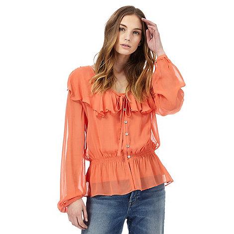 Nine by Savannah Miller - Orange ruffle top