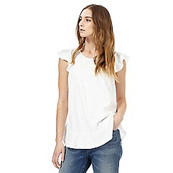 Nine by Savannah Miller - White frilled trim top