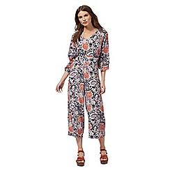 Nine by Savannah Miller - Multi-coloured paisley print culottes jumpsuit