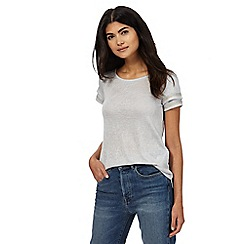 Nine by Savannah Miller - Grey beaded tipped jersey top