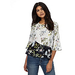 Nine by Savannah Miller - Multi-coloured botanical print top