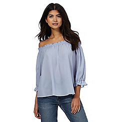 Nine by Savannah Miller - Light blue Bardot top