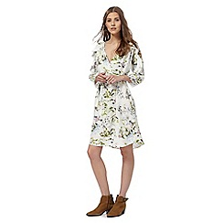 Nine by Savannah Miller - White floral print dress