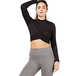 Nine by Savannah Miller - Black knot front crop top
