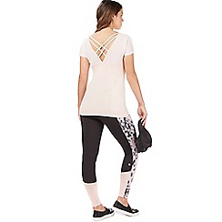 Nine by Savannah Miller - Light pink cross back t-shirt