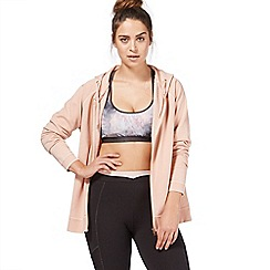 Nine by Savannah Miller - Light pink zip through sweat top