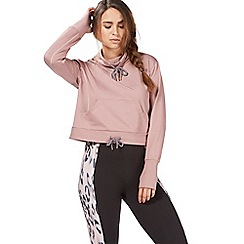 Nine by Savannah Miller - Rose funnel neck crop sweat top