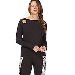 Nine by Savannah Miller - Black long sleeve running top