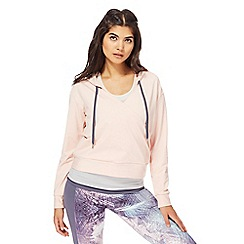 Nine by Savannah Miller - Pink wrap front hoodie