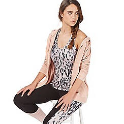 Nine by Savannah Miller - Light pink animal print racer back top