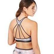 Multi-coloured printed bra top