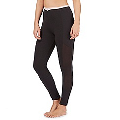 Nine by Savannah Miller - Black mesh panel legging