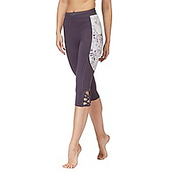 Nine by Savannah Miller - Navy printed side panel cropped leggings