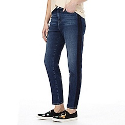 Nine by Savannah Miller - Mid blue wash straight cropped jeans