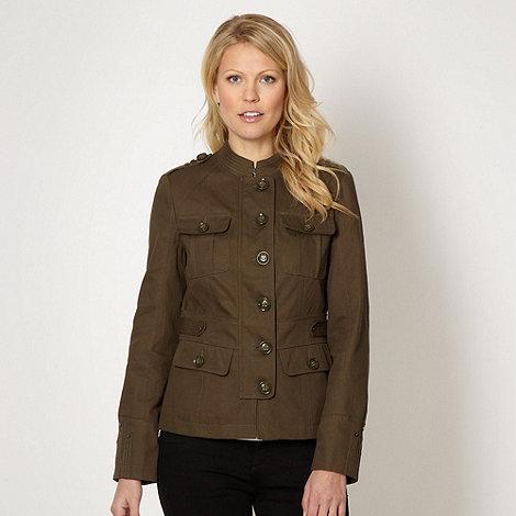J by Jasper Conran - Designer khaki short military jacket