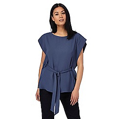 J by Jasper Conran - Blue self-tie waist top