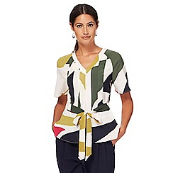 J by Jasper Conran - Multi-coloured patterned kimono top