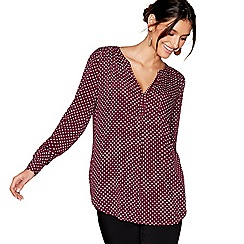 J by Jasper Conran - Dark red spotted blouse