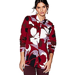 J by Jasper Conran - Wine red floral print shirt