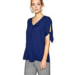 J by Jasper Conran - Navy V-neck pleated top