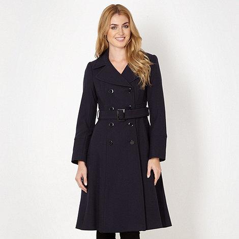 J by Jasper Conran - Designer navy crepe coat