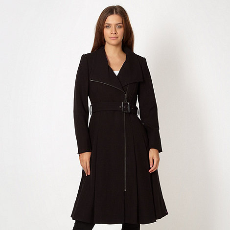 J by Jasper Conran - Designer black zip front coat