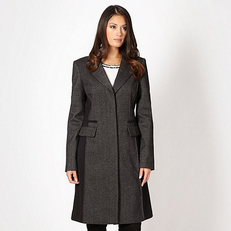 J by Jasper Conran - Designer black button panel coat